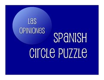 Avancemos 2 Unit 7 Lesson 1 Circle Puzzle