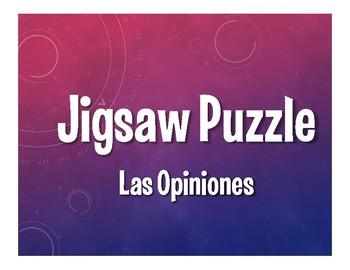 Avancemos 2 Unit 7 Lesson 1 Jigsaw Puzzle