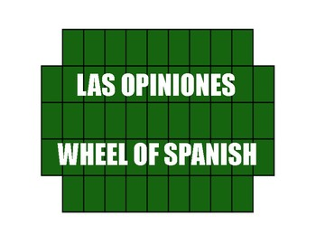 Avancemos 2 Unit 7 Lesson 1 Wheel of Spanish