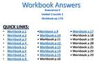Avancemos 2 - Unidad 1 Lección 1 Workbook Answers PPT w/ Audio