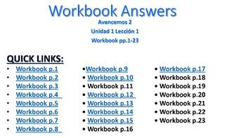 Avancemos Unidad 3 Leccion 2 Packet Answers