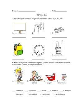 Avancemos 2.2 Vocab Quiz