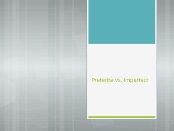 Avancemos 3.1.2 Preterite vs Imperfect