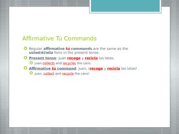 Avancemos 3.2.1 Tú Commands