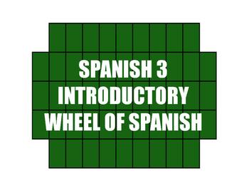 Avancemos 3 Lección Preliminar Wheel of Spanish