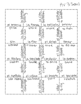 Avancemos 3 Semester 1 Review Jigsaw Puzzle