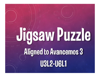 Avancemos 3 Semester 2 Review Jigsaw Puzzle