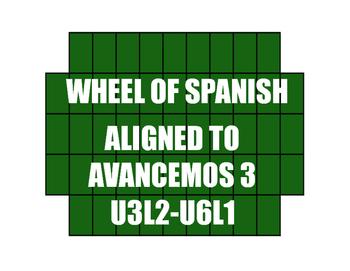 Avancemos 3 Semester 2 Review Wheel of Spanish