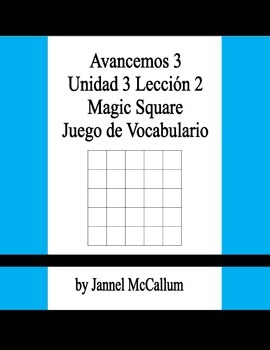 Avancemos 3 - U3L2 Vocabulary Game