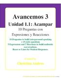 Avancemos 3 - Unidad 1.1 - 10 Preguntas (Interpersonal Con