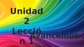 Avancemos 3 - Unidad 2, Leccion 1