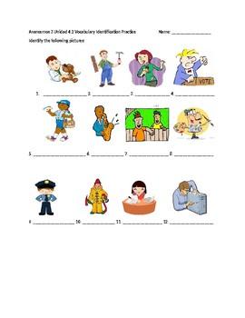 Avancemos 3 Unit 4 Professions Vocabulary 2 Practice