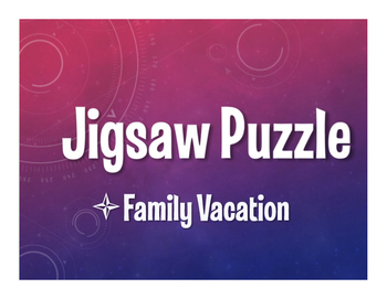 Avancemos 3 Unit 1 Lesson 2 Jigsaw Puzzle