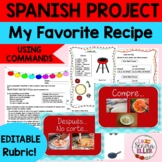 Spanish My Favorite Recipe Project | Spanish Cooking Food Commands Project