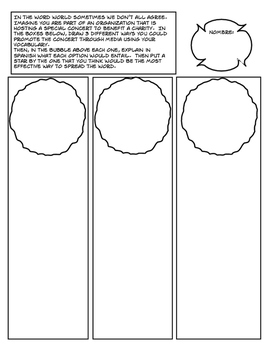 Avancemos 3 Unit 2 Lesson 2 Comic Strip
