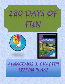 Avancemos 3, Unit 2 Lesson Plans