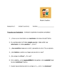 Avancemos 3 Unit 3 Lesson 2    Four Communication and Writing exercises