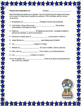 Avancemos 3 Unit 4 Vocabulary Activity