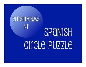 Avancemos 3 Unit 5 Lesson 2 Circle Puzzle