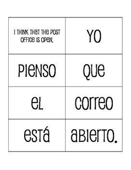Avancemos 3 Unit 6 Lesson 1 Sentence Mixer