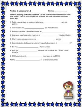 Avancemos 3 Unit 6 Vocabulary Activity
