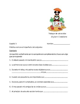Spanish 3  Imperfect Subjunctive - Guided Speaking