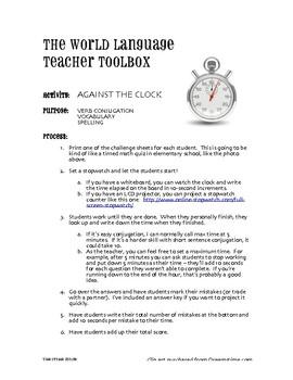 Avancemos 3 Unit 8 Lesson 1 Against the Clock