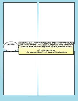 Avancemos 3 Unit 8 Lesson 1 Comic Strip