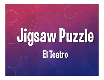Avancemos 3 Unit 8 Lesson 2 Jigsaw Puzzle