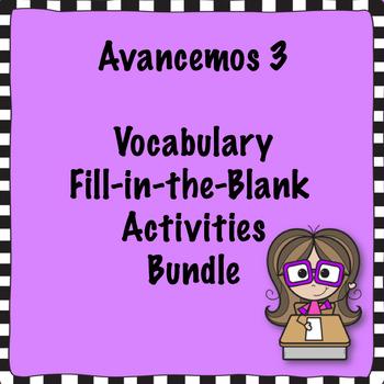 Avancemos 3 Vocabulary Bundle