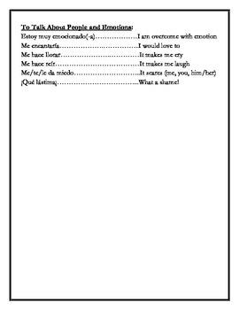 Avancemos 3 - Vocabulary Lists through Unit 6, Lesson 1