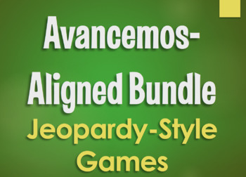 Avancemos 4 Bundle: Jeopardy-Style Review Games