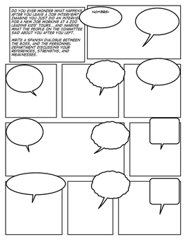 Avancemos 4 Unit 1 Lesson 1 Comic Strip