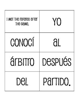 Avancemos 4 Unit 2 Lesson 1 Sentence Mixer