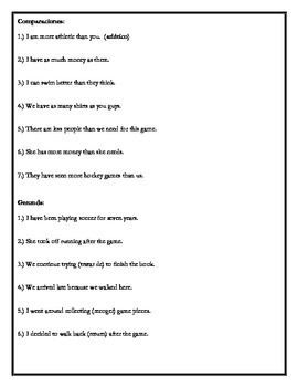 Avancemos 4 - Unit 2 Lesson 2 Exam Review Worksheet/Study Guide