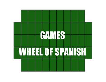 Avancemos 4 Unit 2 Lesson 2 Wheel of Spanish