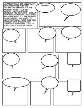 Avancemos 4 Unit 4 Lesson 1 Comic Strip