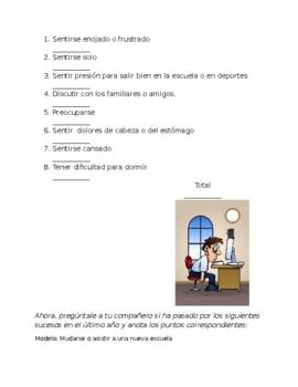Avancemos 4 Unit 4 Lesson 1 Communication /partner Activity with Stress Test