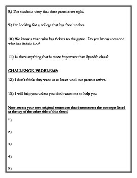 Avancemos 4 - Unit 4 Lesson 1 Subjunctive Practice Translations