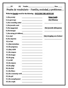 Avancemos 4 - Unit 4 Lesson 1 Vocabulary Quiz