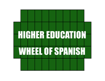 Avancemos 4 Unit 4 Lesson 2 Wheel of Spanish