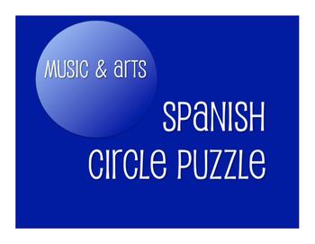 Avancemos 4 Unit 5 Lesson 1 Circle Puzzle