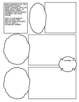 Avancemos 4 Unit 5 Lesson 1 Comic Strip
