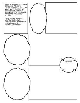 Avancemos 4 Unit 5 Lesson 1 Comic Strip