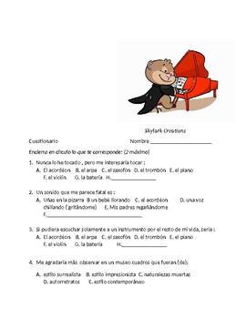 Avancemos 4 Unit 5 Lesson 1 Survey and Speaking Activity