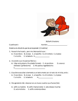 Avancemos 4 Unit 5 Lesson 1 Survey and Speaking Activity