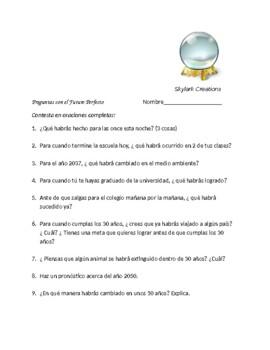 Avancemos 4 Unit 5 Lesson1  Future Perfect Practice