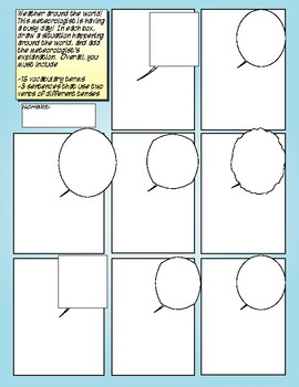 Avancemos 4 Unit 6 Lesson 2 Comic Strip