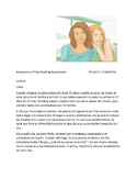 Avancemos 4 Unit 6 Lesson 2  Reading Comprehension Amigas por Vida
