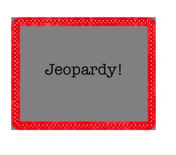 Avancemos 5.2 Jeopardy